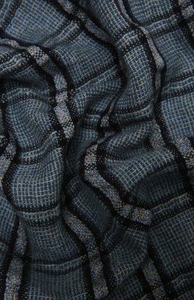 Мужской шарф изо льна и кашемира LORO PIANA синего цвета, арт. FAL5693 | Фото 2