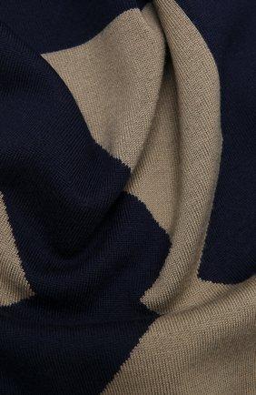 Мужской шерстяной шарф KENZO синего цвета, арт. FB58EU720KEB | Фото 2