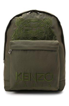 Мужской текстильный рюкзак KENZO хаки цвета, арт. FA65SF300F20 | Фото 1