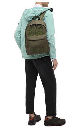Мужской текстильный рюкзак KENZO хаки цвета, арт. FA65SF300F20 | Фото 2