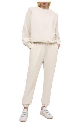 Женский хлопковый свитшот THE FRANKIE SHOP кремвого цвета, арт. SW VAN KR 08 | Фото 2