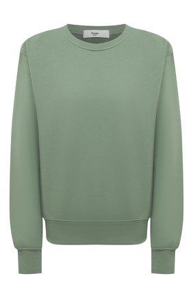 Женский хлопковый свитшот THE FRANKIE SHOP зеленого цвета, арт. SW VAN KR 08 | Фото 1