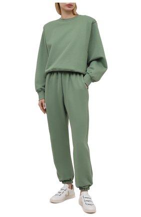 Женский хлопковый свитшот THE FRANKIE SHOP зеленого цвета, арт. SW VAN KR 08 | Фото 2