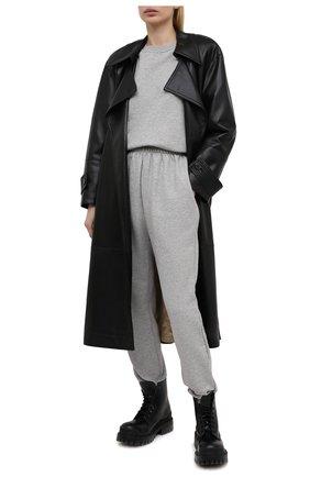 Женский хлопковый свитшот THE FRANKIE SHOP серого цвета, арт. SW VAN KR 08 | Фото 2