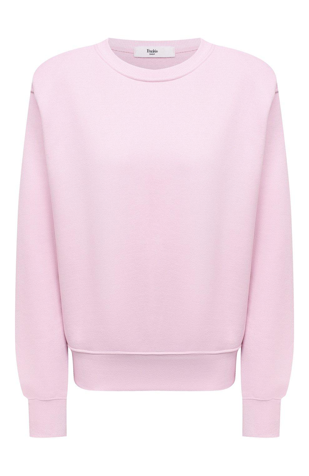 Женский хлопковый свитшот THE FRANKIE SHOP розового цвета, арт. SW VAN KR 08 | Фото 1