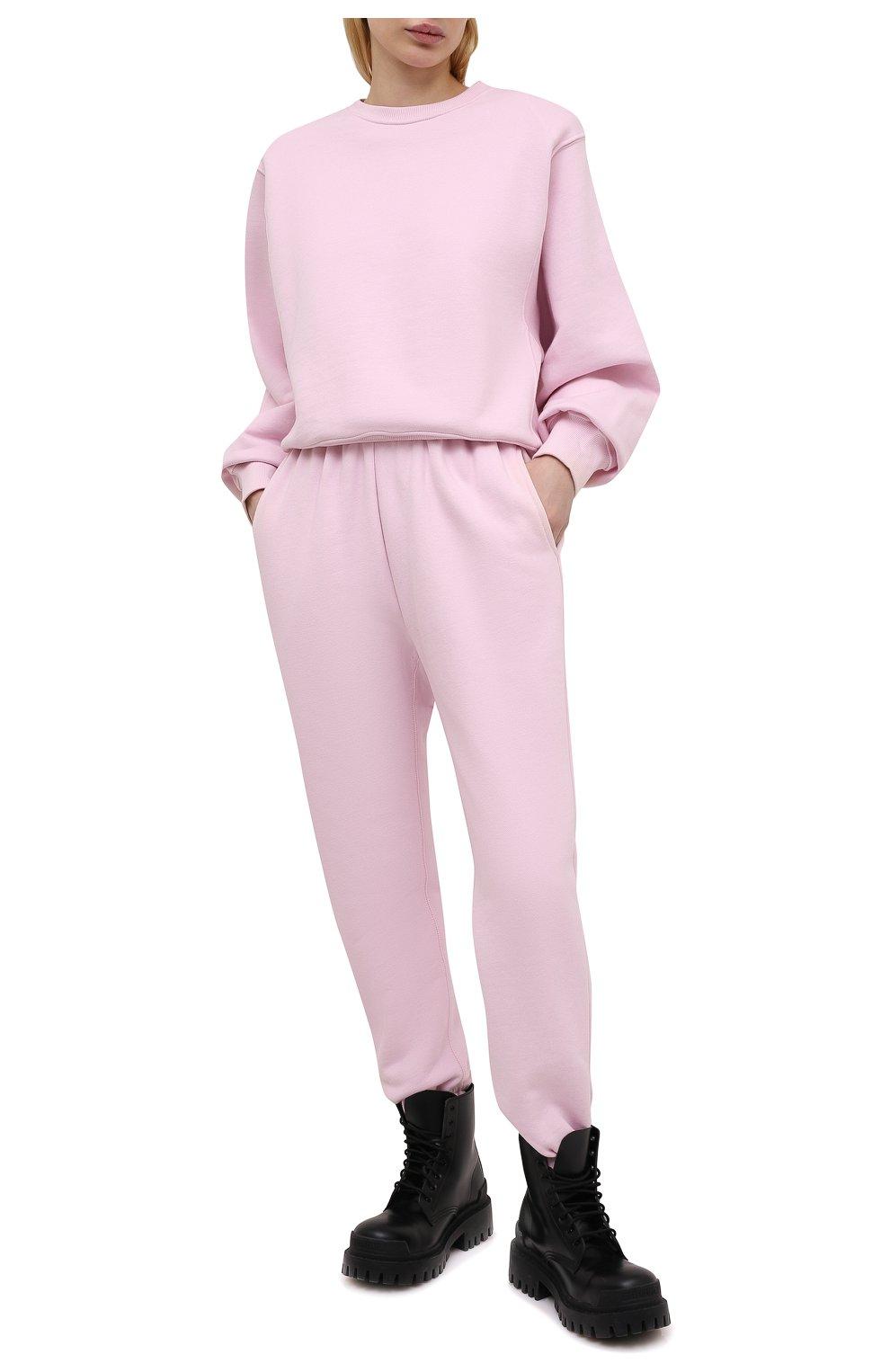 Женский хлопковый свитшот THE FRANKIE SHOP розового цвета, арт. SW VAN KR 08 | Фото 2