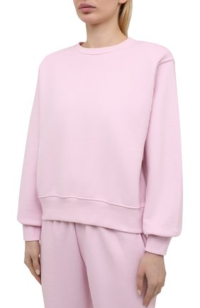 Женский хлопковый свитшот THE FRANKIE SHOP розового цвета, арт. SW VAN KR 08 | Фото 3