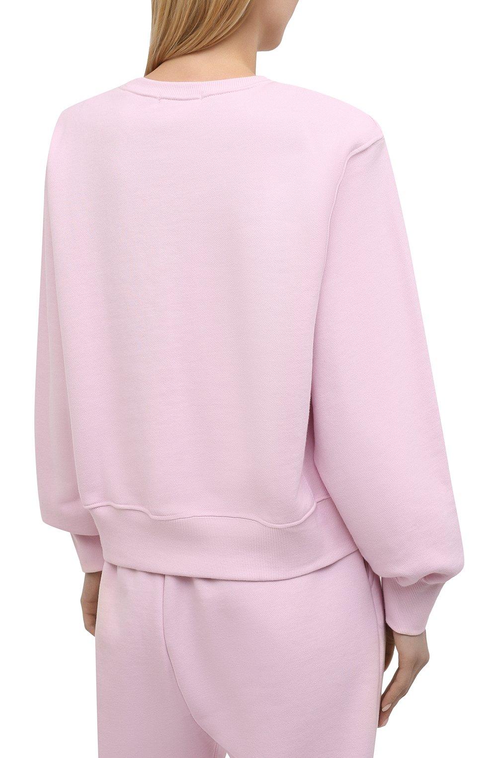Женский хлопковый свитшот THE FRANKIE SHOP розового цвета, арт. SW VAN KR 08 | Фото 4
