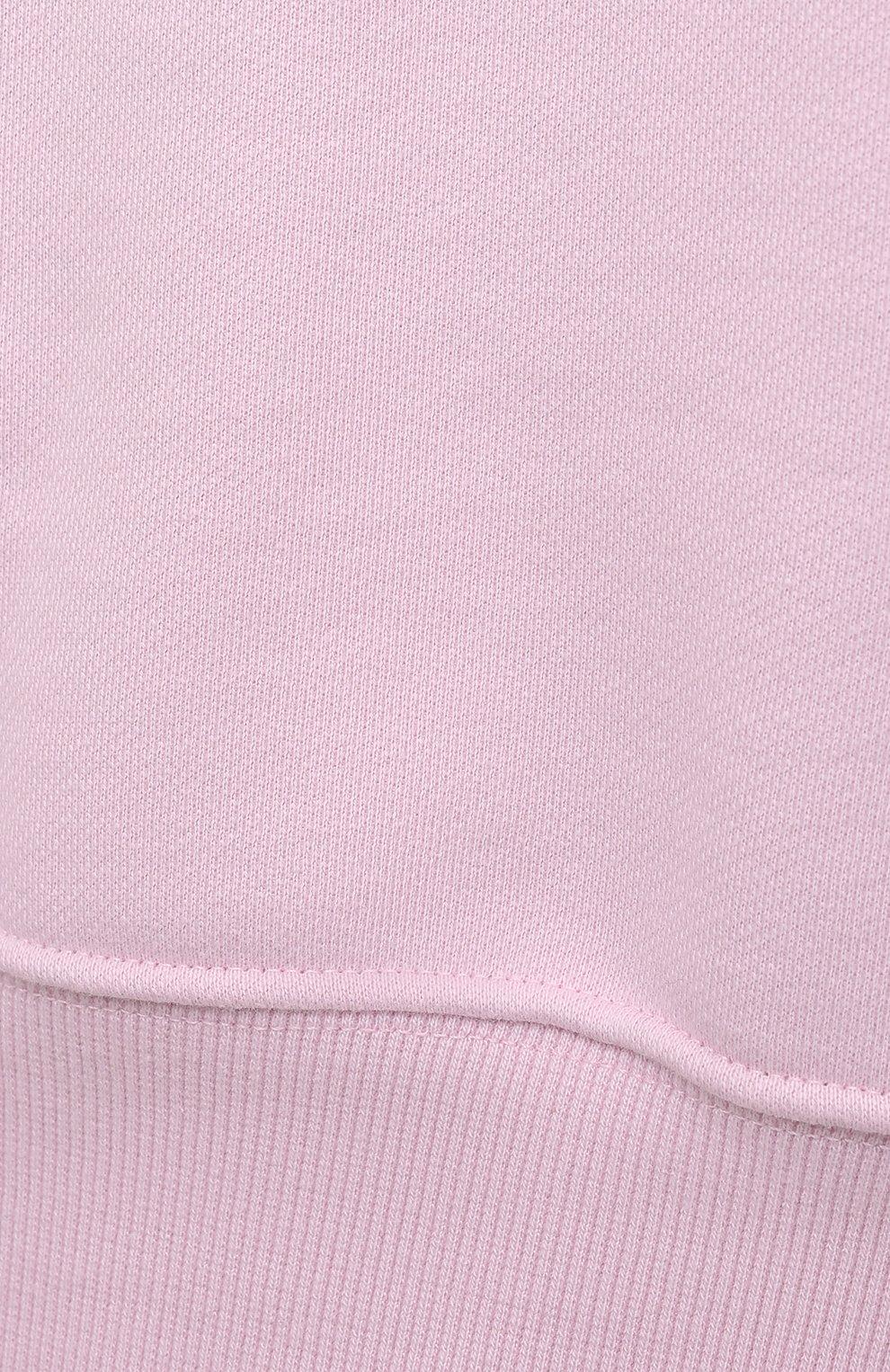 Женский хлопковый свитшот THE FRANKIE SHOP розового цвета, арт. SW VAN KR 08 | Фото 5