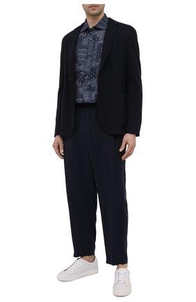 Мужские брюки GIORGIO ARMANI темно-синего цвета, арт. 1SGPP0HG/T00AB | Фото 2