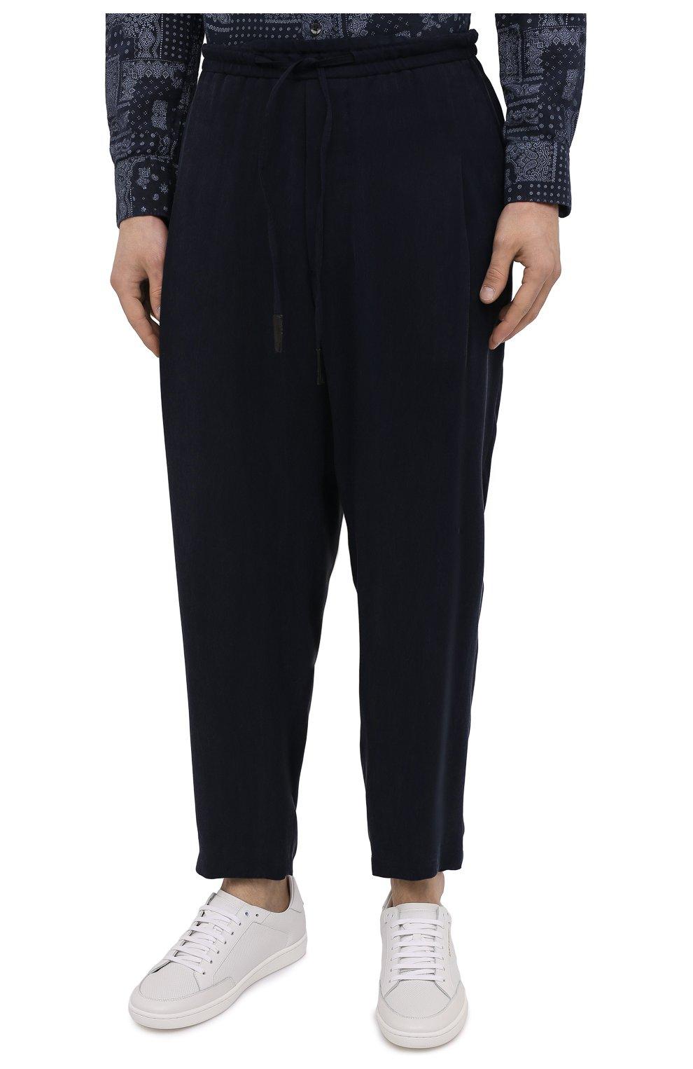 Мужские брюки GIORGIO ARMANI темно-синего цвета, арт. 1SGPP0HG/T00AB | Фото 3