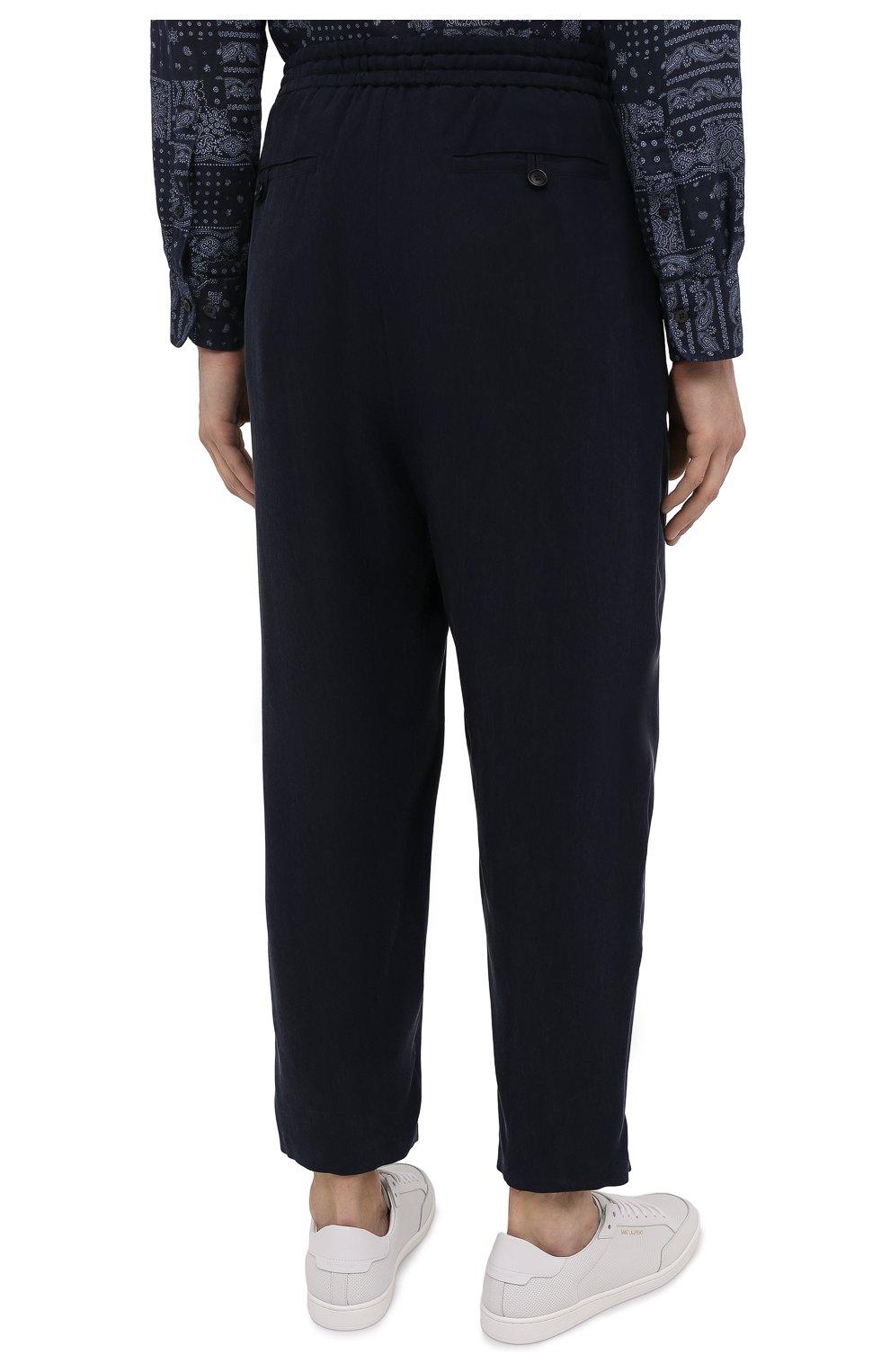 Мужские брюки GIORGIO ARMANI темно-синего цвета, арт. 1SGPP0HG/T00AB | Фото 4