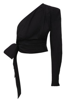 Женский хлопковый топ ALEXANDRE VAUTHIER черного цвета, арт. 211T01403 1260-202 | Фото 1