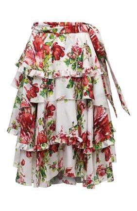 Женская шелковая юбка ALEXANDRE VAUTHIER разноцветного цвета, арт. 211SK1401 1414-211 | Фото 1