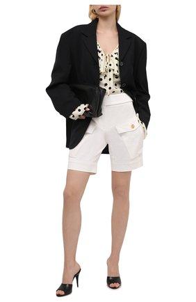 Женские хлопковые шорты ALEXANDRE VAUTHIER белого цвета, арт. 211PA1407 1300-203   Фото 2