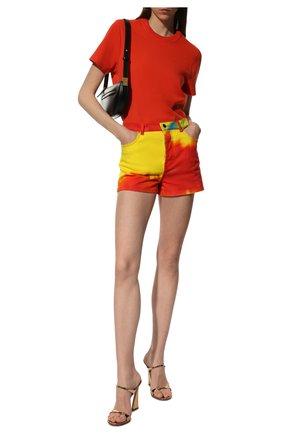 Женские джинсовые шорты ALEXANDRE VAUTHIER разноцветного цвета, арт. 211PA1403 1418-211 | Фото 2