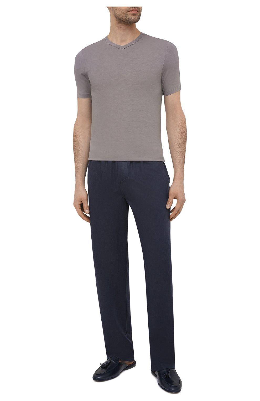 Мужская футболка ZIMMERLI серого цвета, арт. 700-1346 | Фото 2 (Кросс-КТ: домашняя одежда; Рукава: Короткие; Материал внешний: Синтетический материал; Длина (для топов): Стандартные; Мужское Кросс-КТ: Футболка-белье)