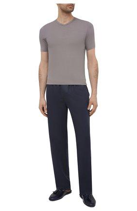 Мужская футболка ZIMMERLI серого цвета, арт. 700-1346 | Фото 2