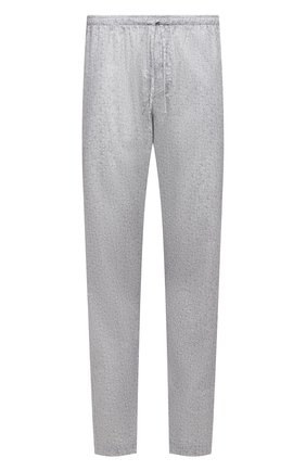 Мужские хлопковые домашние брюки ZIMMERLI светло-серого цвета, арт. 4763-75182 | Фото 1 (Длина (брюки, джинсы): Стандартные; Материал внешний: Хлопок; Кросс-КТ: домашняя одежда; Мужское Кросс-КТ: Брюки-белье)