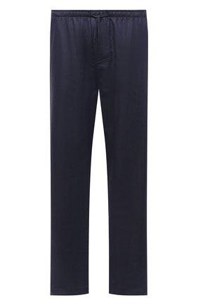 Мужские домашние брюки изо льна и хлопка ZIMMERLI темно-синего цвета, арт. 4697-75183 | Фото 1