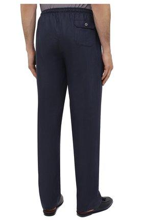 Мужские домашние брюки изо льна и хлопка ZIMMERLI темно-синего цвета, арт. 4697-75183   Фото 4 (Длина (брюки, джинсы): Стандартные; Кросс-КТ: домашняя одежда; Мужское Кросс-КТ: Брюки-белье; Материал внешний: Хлопок, Лен)