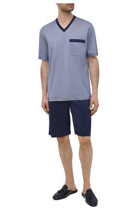 Мужская хлопковая пижама ZIMMERLI темно-синего цвета, арт. 3029-95412 | Фото 1