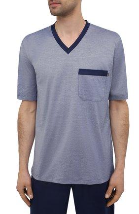 Мужская хлопковая пижама ZIMMERLI темно-синего цвета, арт. 3029-95412 | Фото 2