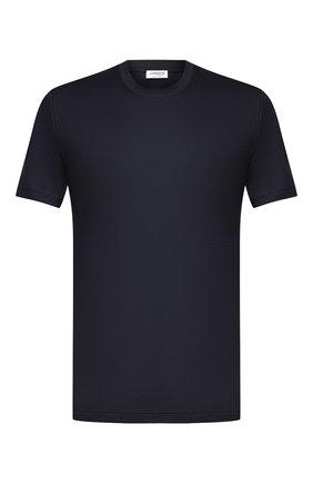 Мужская хлопковая футболка ZIMMERLI темно-синего цвета, арт. 286-1447 | Фото 1