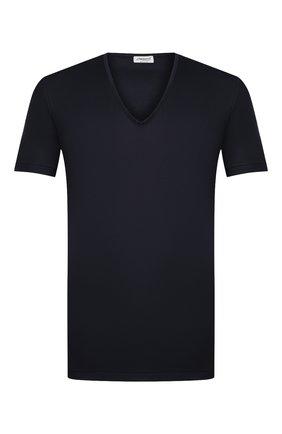 Мужская хлопковая футболка ZIMMERLI темно-синего цвета, арт. 286-1442 | Фото 1