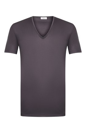 Мужская хлопковая футболка ZIMMERLI темно-серого цвета, арт. 286-1442 | Фото 1