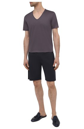 Мужская хлопковая футболка ZIMMERLI темно-серого цвета, арт. 286-1442 | Фото 2