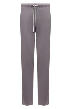 Мужские хлопковые домашние брюки ZIMMERLI серого цвета, арт. 1357-21143 | Фото 1 (Материал внешний: Хлопок; Длина (брюки, джинсы): Стандартные; Кросс-КТ: домашняя одежда; Мужское Кросс-КТ: Брюки-белье)