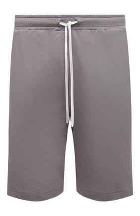 Мужские хлопковые домашние шорты ZIMMERLI серого цвета, арт. 1357-21142   Фото 1