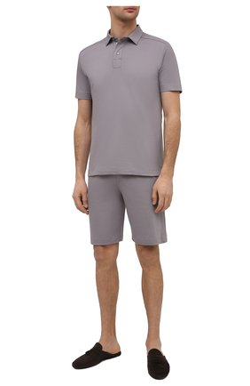 Мужские хлопковые домашние шорты ZIMMERLI серого цвета, арт. 1357-21142   Фото 2