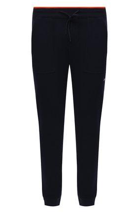 Мужские хлопковые джоггеры PAUL&SHARK темно-синего цвета, арт. 21411880/HPW   Фото 1 (Длина (брюки, джинсы): Стандартные; Материал внешний: Хлопок; Силуэт М (брюки): Джоггеры; Стили: Спорт-шик; Мужское Кросс-КТ: Брюки-трикотаж)