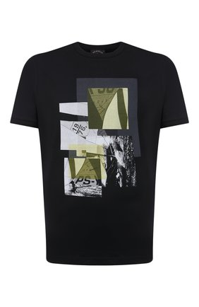 Мужская хлопковая футболка PAUL&SHARK черного цвета, арт. 21411105/C00 | Фото 1