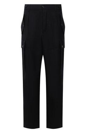 Мужские шерстяные брюки-карго LOEWE черного цвета, арт. H526Y04W04 | Фото 1