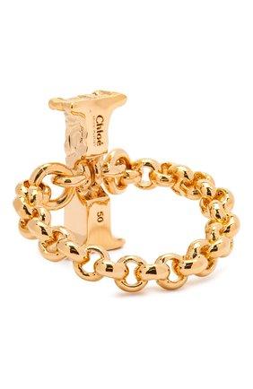 Женское кольцо alphabet i CHLOÉ золотого цвета, арт. CHC21SFR0ICB7 | Фото 2 (Материал: Металл)