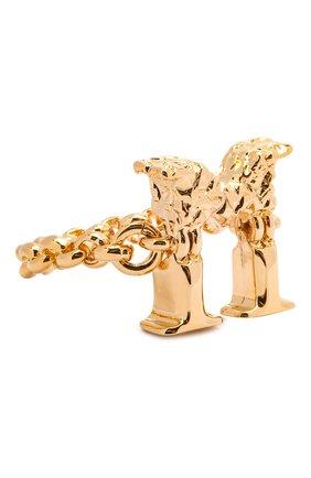 Женское кольцо alphabet m CHLOÉ золотого цвета, арт. CHC21SFR0MCB7 | Фото 1 (Материал: Металл)