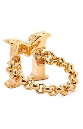 Женское кольцо alphabet m CHLOÉ золотого цвета, арт. CHC21SFR0MCB7 | Фото 2 (Материал: Металл)