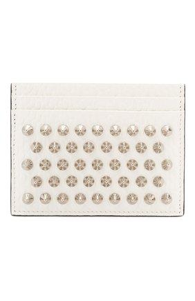 Женский кожаный футляр для кредитных карт CHRISTIAN LOUBOUTIN белого цвета, арт. 3205078/W KI0S   Фото 1