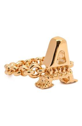 Женское кольцо alphabet a CHLOÉ золотого цвета, арт. CHC21SFR0ACB7 | Фото 1 (Материал: Металл)