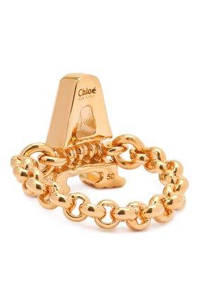 Женское кольцо alphabet a CHLOÉ золотого цвета, арт. CHC21SFR0ACB7 | Фото 2 (Материал: Металл)