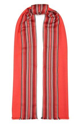 Женская шаль из смеси шелка и кашемира LORO PIANA кораллового цвета, арт. FAI2568   Фото 1