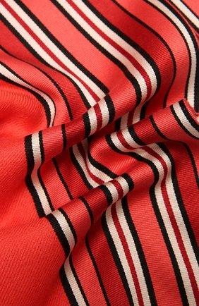 Женская шаль из смеси шелка и кашемира LORO PIANA кораллового цвета, арт. FAI2568   Фото 2