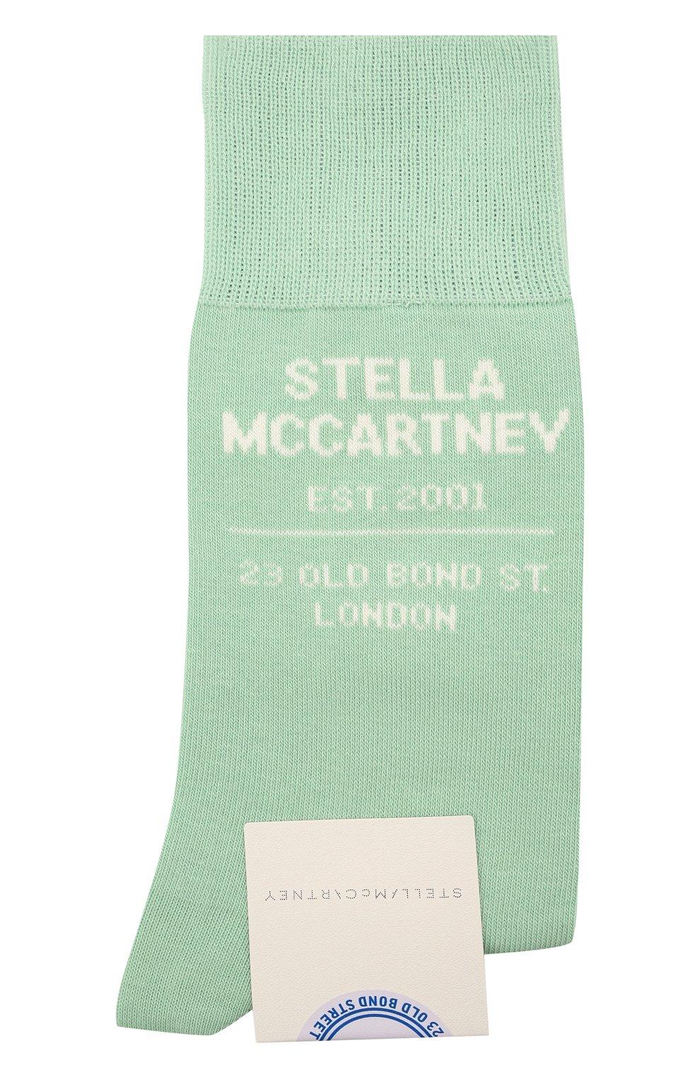 Женские носки STELLA MCCARTNEY светло-зеленого цвета, арт. 603074/S7229 | Фото 1