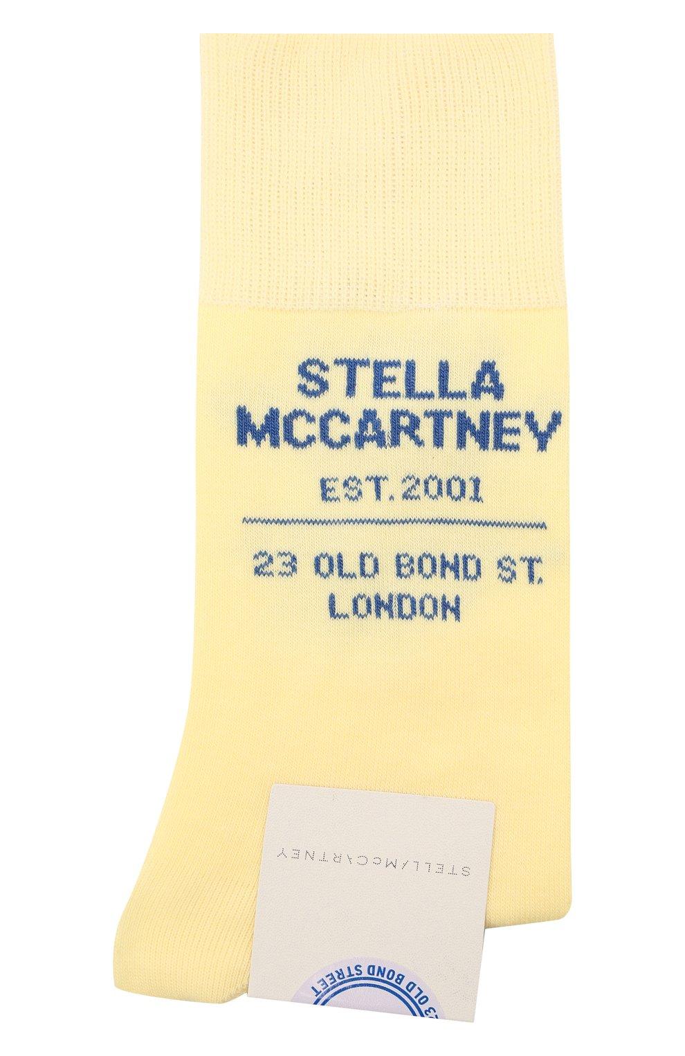 Женские носки STELLA MCCARTNEY желтого цвета, арт. 603074/S7229   Фото 1