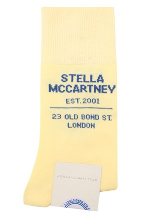 Женские носки STELLA MCCARTNEY желтого цвета, арт. 603074/S7229 | Фото 1