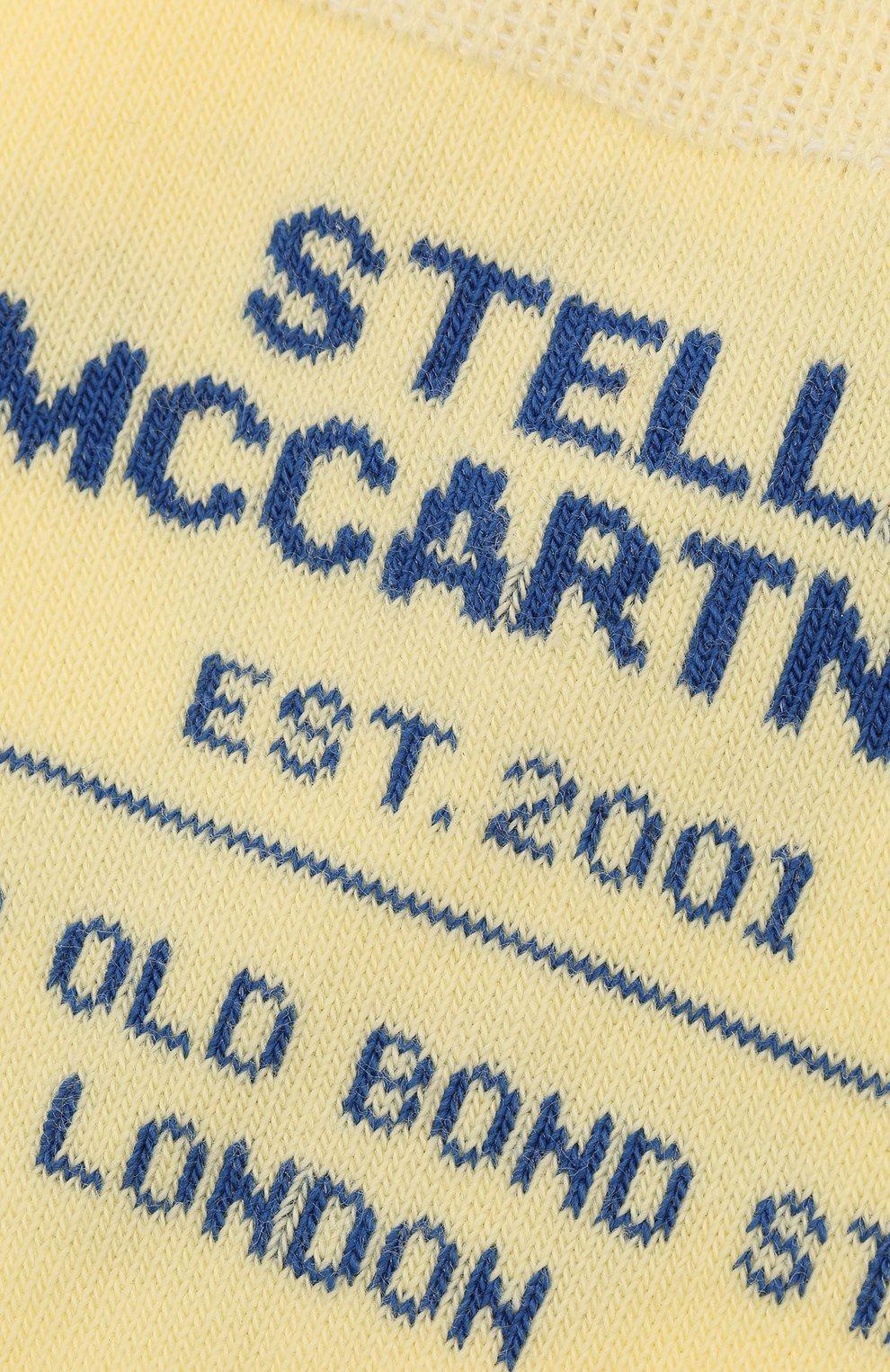 Женские носки STELLA MCCARTNEY желтого цвета, арт. 603074/S7229   Фото 2