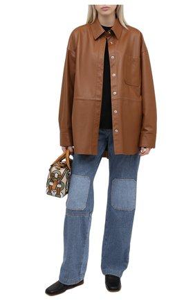 Женские джинсы JW ANDERSON голубого цвета, арт. DT0002 PG0427 | Фото 2